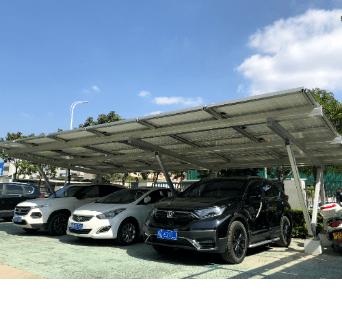 Clenergy หลังคาที่จอดรถ Solar cell สำหรับ 1 คัน