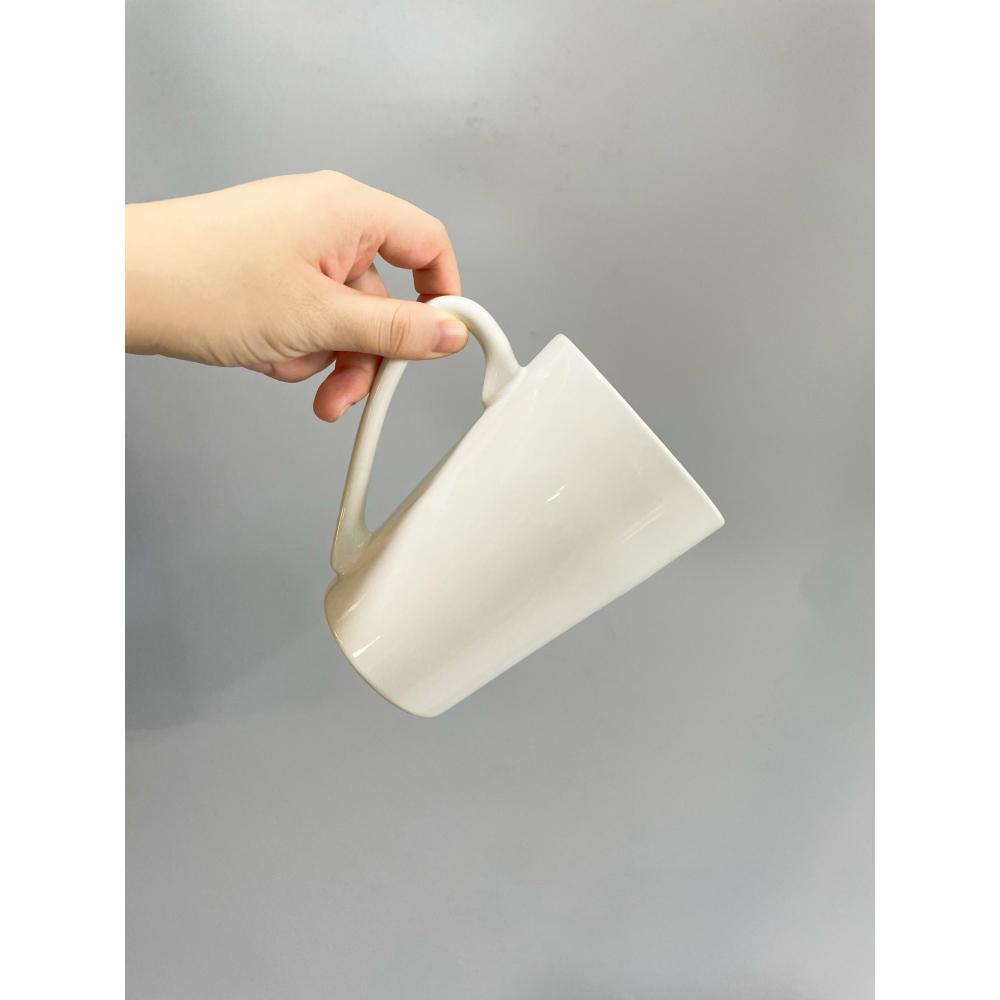 KUP แก้วเซรามิค 12.5ซม.  O Cha สีขาว