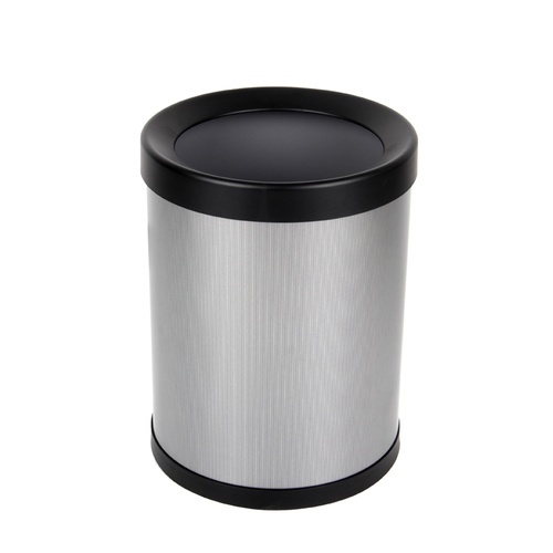 ICLEAN ถังขยะเหล็กเคลือบทรงกลม 11 ลิตร TG52304  TG52304 สีเทา