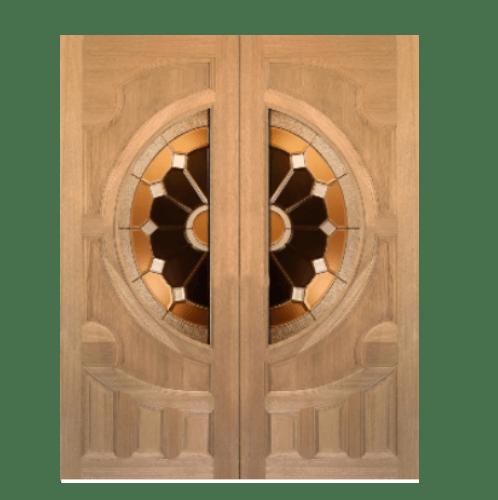 MAZTERDOOR ประตูไม้เรดเมอร์รันตี ขนาด  80x200cm. Vanda-04