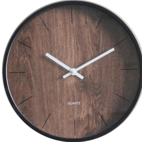 ULA นาฬิกาติดผนัง ขนาด 30.5x30.5x4.3ซม. BE2875KJCSY สีน้ำตาล