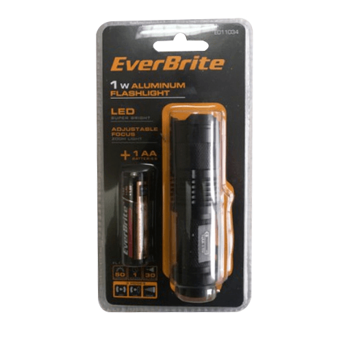 EVERBRITE ไฟฉาย ขนาด 2.5x9.5x2.8 cm  E011034 สีดำ
