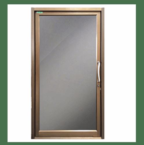 -  ประตูอลูมิเนียมบานสวิงเดี่ยว  ขนาด 109x204ซม.  สีขาว