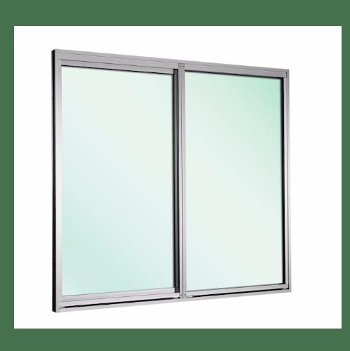 TRUSTAND (EZY WINDOW) หน้าต่างบานเลื่อนอะลูมิเนียม กระจกเขียว+มุ้ง 1100x1200 EW-FS1112-W5G สีขาว