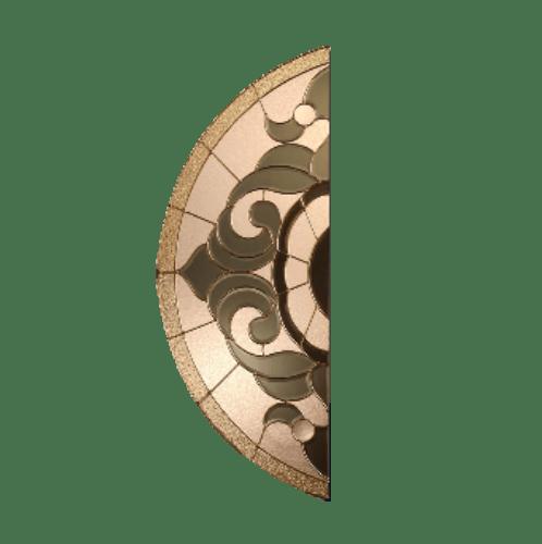 MAZTERDOOR กระจก ขนาด  42x108 cm. Vanda-01