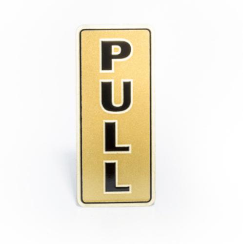 Cityart nameplate ป้ายอลูมิเนียม  PULL ขนาด 3x7 ซม. SGB9101-89 สีทอง