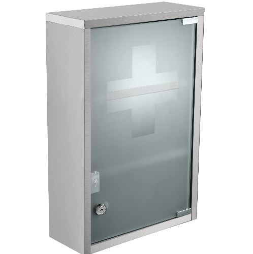 HATO ตู้ยาสามัญประจำบ้าน  30x12x50 cm. W2032L สแตนเลส