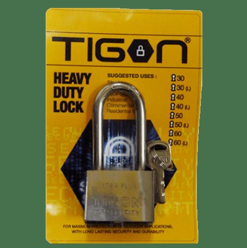 TIGON กุญแจชุบเงิน ขนาด 30 มม. คอยาว -