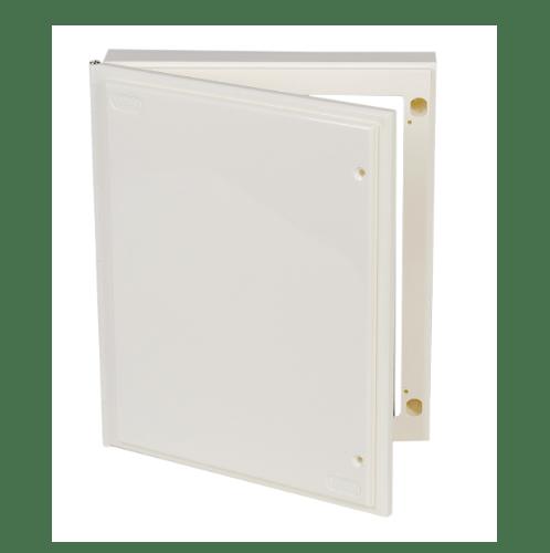 LEETECH แผงไฟฟ้าพลาสติก 8x10 BA810W สีขาว