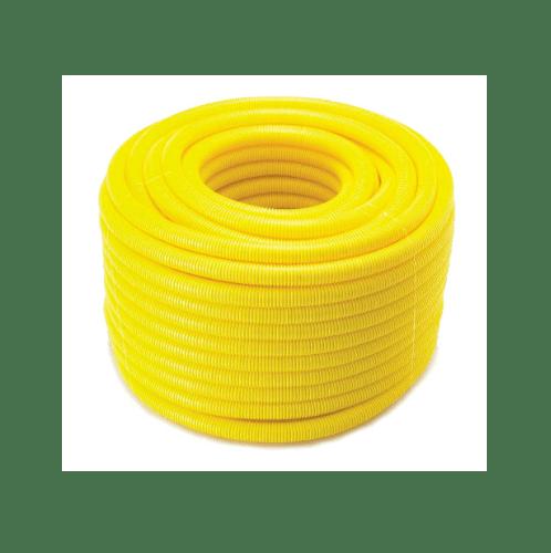 ท่อลูกฟูกร้อย  1/2(18x50) - เหลือง