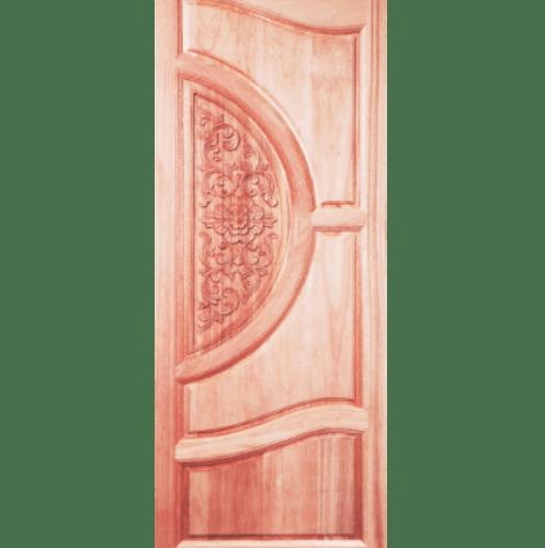 BEST ประตูไม้สนบานทึบแกะลาย ขนาด 80x230 cm. GC-07