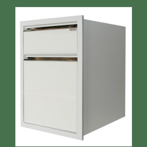 KITZCHO ตู้ลิ้นชัก2ลิ้นชัก ZER-D-S2-6040X-WH ขาว