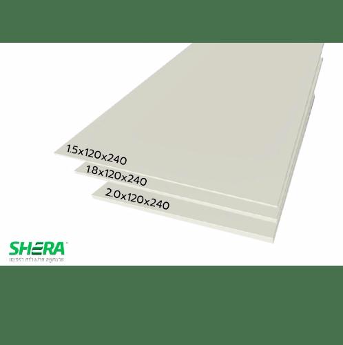 SHERA แผ่นพื้นเฌอร่าบอร์ด 1.8x120x240ซม.  สีธรรมชาติ