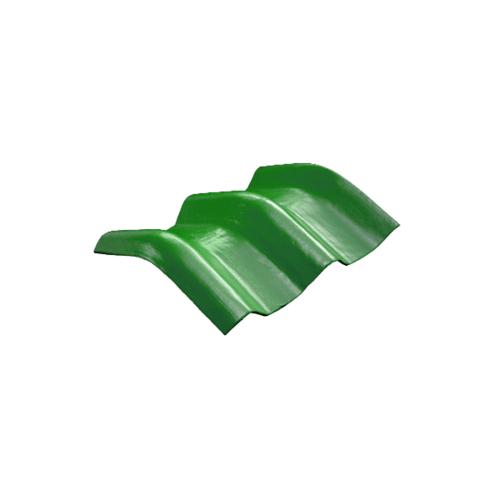 โอฬาร ครอบมุม 10 องศา   ลอนคู่ สีเขียวหยก