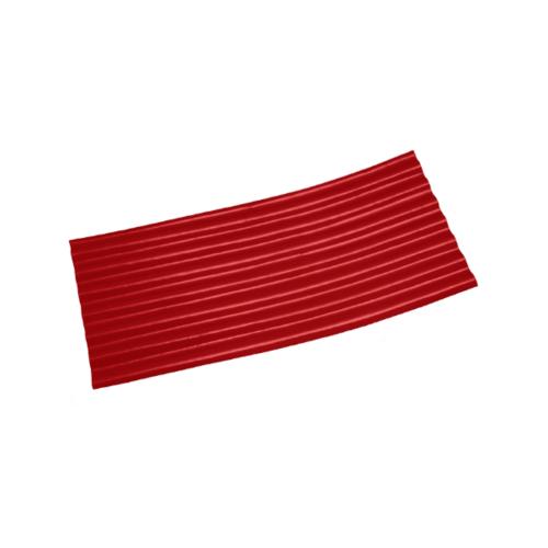 โอฬาร กระเบื้องปลายงอน-ขวา 4มม. 54*120ซม.  ลอนเล็ก สีแดงรุ่งอรุณ