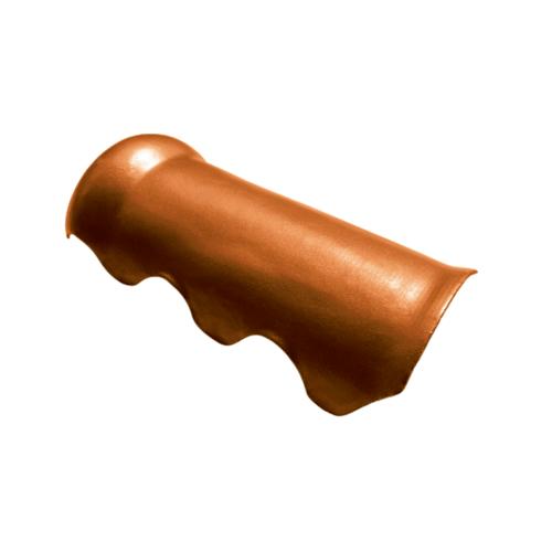 โอฬาร ครอบสันโค้ง 23*52 ซม. สีประกายทองแดง สามลอน