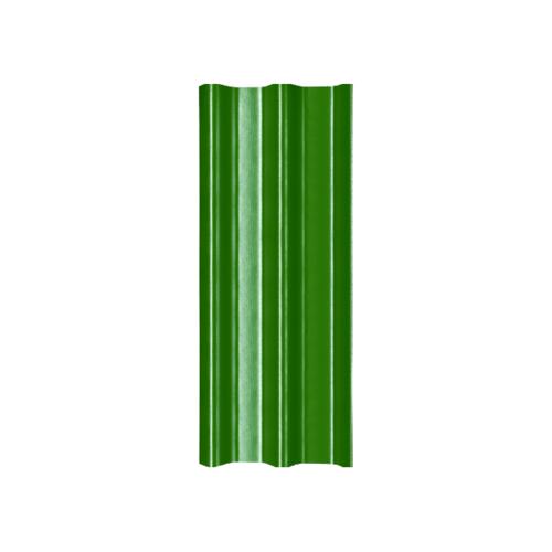 โอฬาร กระเบื้องลอนคู่ 5 มม. 50*150 ซม.(ลูกโลก) สีเขียววาสนา ลอนคู่