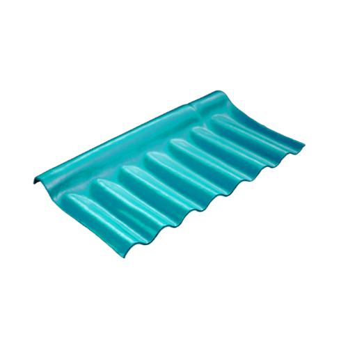 โอฬาร ครอบปรับมุมตัวล่าง 54x28 ซม. สีฟ้าสดใส (ลูกโลก) ลอนเล็ก