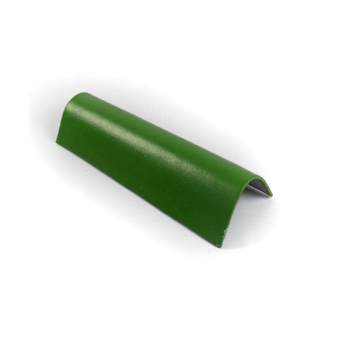 โอฬาร ครอบข้างคู่(สั้น) 90 องศา ใยหิน ลอนคู่ สีเขียว