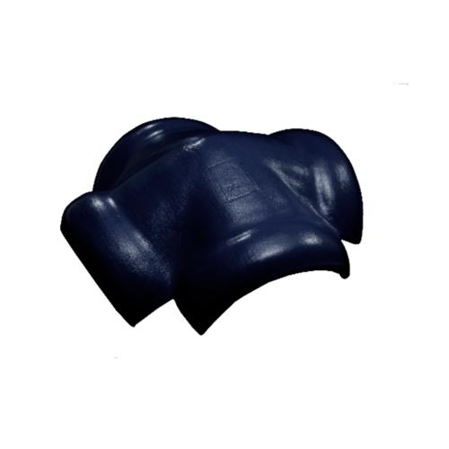 โอฬาร ครอบสันโค้ง 4 ทาง (ลูกโลก) ลอนคู่ สีน้ำเงิน