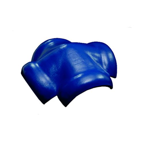 โอฬาร ครอบสันโค้งคู่ 4 ทาง ใยหิน (ลูกโลก) สีฟ้าเลิศนภา ลอนคู่ สีฟ้า