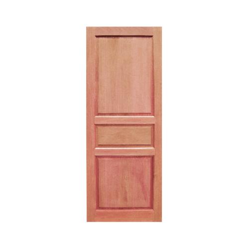 BEST ประตูไม้สยาแดง บานทึบ 3ฟัก ขนาด 80x210ซม. GS-40