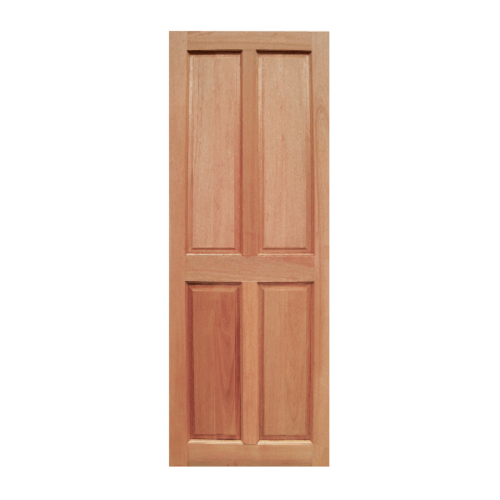 BEST ประตูไม้สยาแดง บานทีบ 4ลูกฟัก 70x170ซม. GS-42