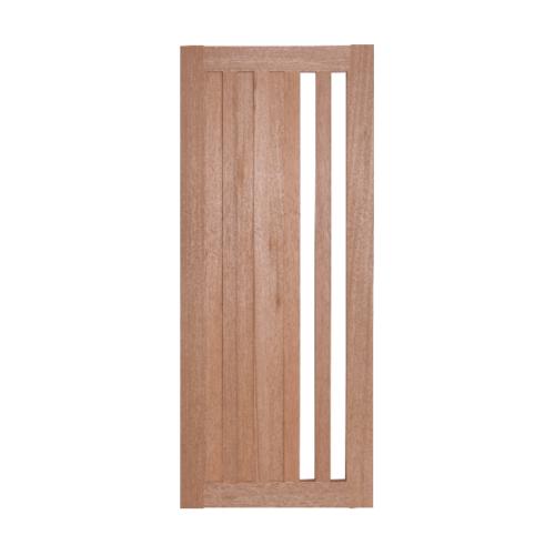 BEST  ประตูไม้สยาแดงพร้อม (กระจกใส)  ขนาด 100x220 ซม. ทำสี GS-47
