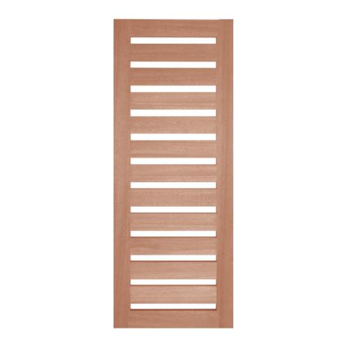 BEST ประตูไม้สยาแดง ทำช่องพร้อมกระจกใส ขนาด  50x210ซม. GS-55