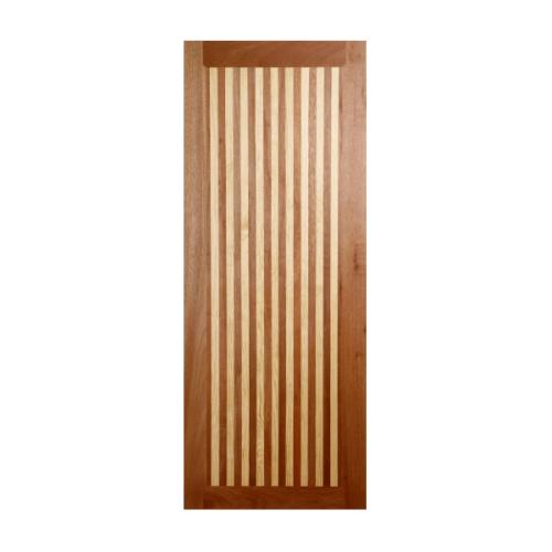 BEST  ประตูไม้สยาแดง บานทึบ 80x220ซม. GL-01