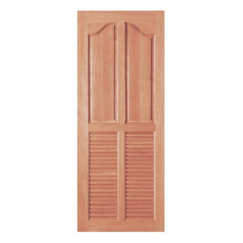 BEST ประตูไม้สยาแดง 2ลูกฟักบน 2เกล็ดล่าง 70x200ซม. GS-26