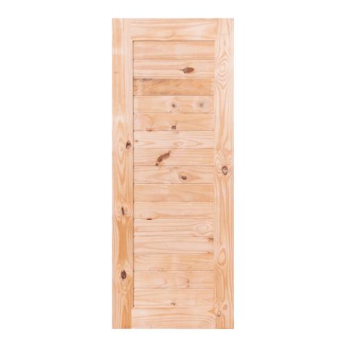 BEST ประตูไม้สน บานทึบทำร่อง  120x200ซม. GS-52