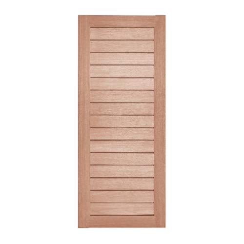 BEST ประตูไม้สยาแดง บานทึบทำร่อง ขนาด 135x200ซม. GS-52