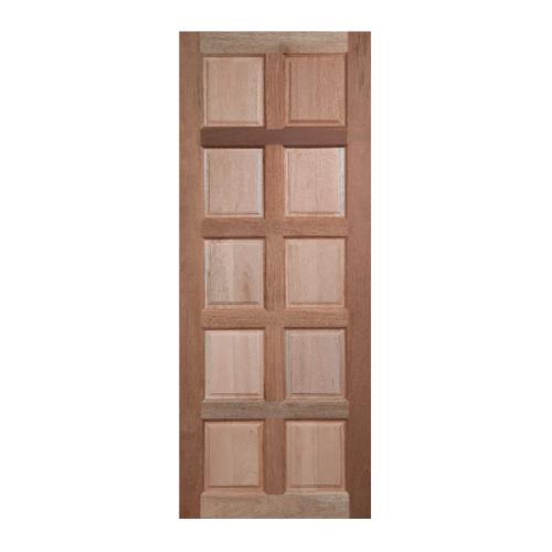 BEST ประตูไม้สยาแดง บานทึบ 10ฟัก ขนาด  70x180ซม. GS-49