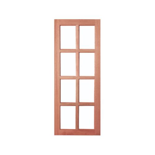 BEST สพ.ประตูไม้สยาแดง 8 ช่องฟัก (โปร่ง)  ขนาด 80x200 ซม. GS-48