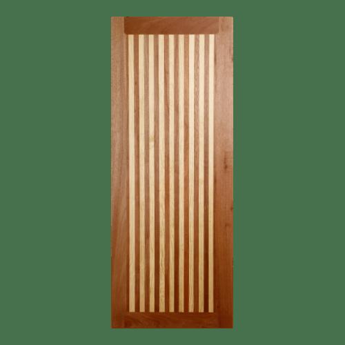 BEST ประตูไม้สยาแดงบานทึบ ขนาด 80x200ซม. GL-01 ทำสี ไม่ระบุสี