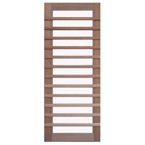 BEST ประตูไม้สยาแดง กระจกใส/ทำสี ขนาด 90x215 cm. GS-59