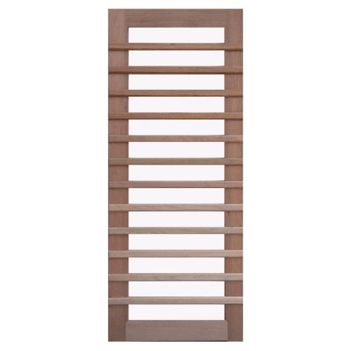 BEST ประตูกระจกไม้สยาแดง GS-59 กระจกใส ขนาด 110x200 cm.  GS-59 กระจกใส