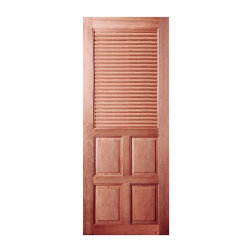BEST ประตูไม้สยาแดงลูกฟักพร้อมเกล็ดครึ่งบานบน 70x200 ซม. GS-25