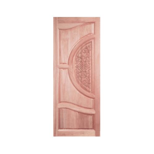 BEST ประตูไม้สยาแดงบานทึบ แกะลาย ขนาด 80x200 ซม. GC-07