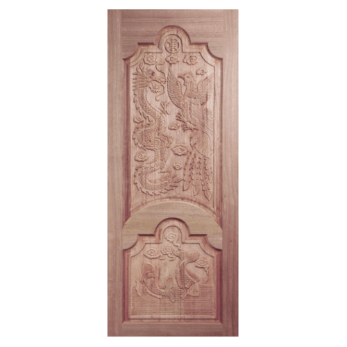 BEST ประตูไม้สยาแดง  ขนาด 80x180 cm. GC-91