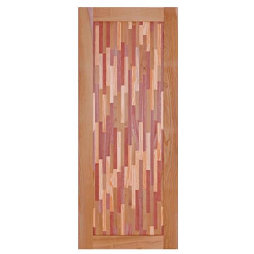 BEST ประตูไม้สยาแดง ขนาด 100x200cm. GL-09
