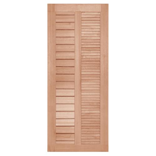 BEST ประตูไม้สยาแดง ขนาด  70x200cm.   GS-22