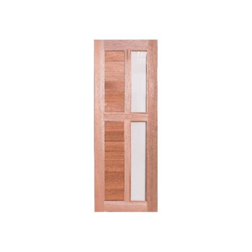 BEST ประตูไม้สยาแดง (กระจกใส)  ขนาด80x220cm. GS-57