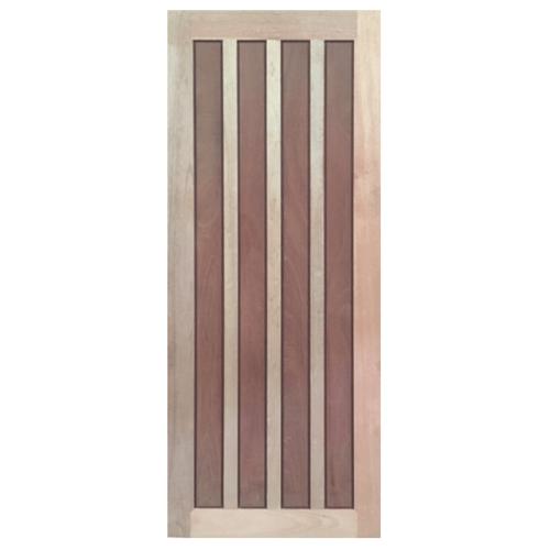 BEST ประตูไม้สยาแดง ขนาด 90x200 cm.  GS-39