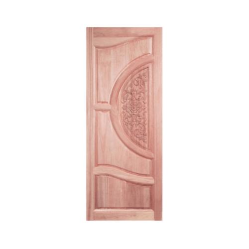 BEST ประตูไม้สยาแดงบานทึบแกะลาย  ขนาด80x220 cm. GC-07