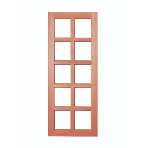 BEST ประตูกระจกไม้สยาแดง  80x200 cm.   GS-49กระจกใส