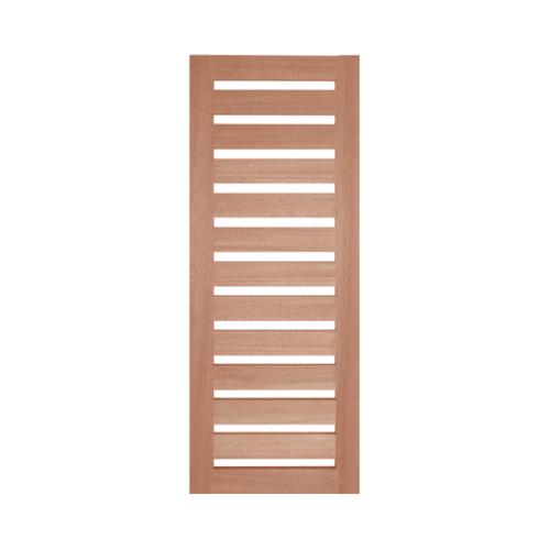 BEST ประตูกระจกไม้สยาแดง ขนาด80x220 cm. GS-55