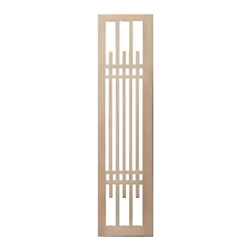BEST ประตูกระจกไม้สยาแดง ขนาด 50x200 cm. GS-63