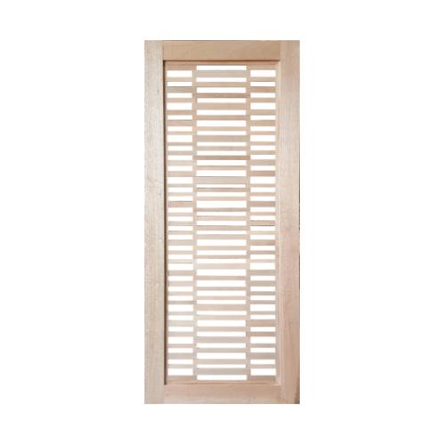 BEST ประตูกระจกไม้สยาแดง  ขนาด 80x220 cm. GS-60